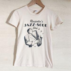 American Apparel Rasputin's Jazz Soul Shop T Shirt